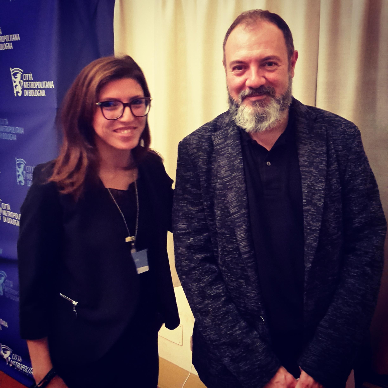 Carlo Lucarelli e Silvia Sax